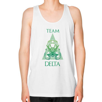 Team Delta Unisex Fine Jersey Tank (on man)