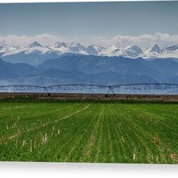Rocky Mountain Farming View Canvas Print