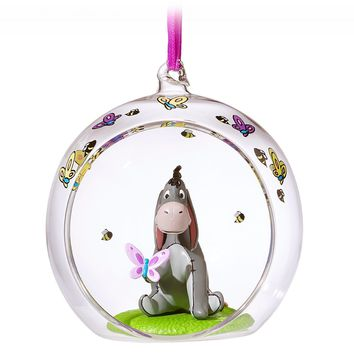 Disney 2018 Eeyore Glass Globe Sketchbook Christmas Ornament New with Tag
