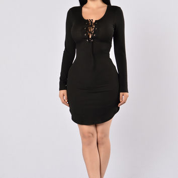 Friday Night Fever Dress - Black