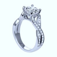 2.48ct G-SI1 GIA 18kt White Gold Halo Round Diamond Engagement Ring JEWELFORME BLUE