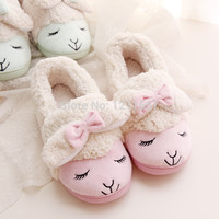Kawaii Little Sheep Candy Color Plush Home Slippers Winter Slippers Thermal Slippers Retail SS1
