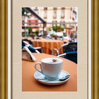 Morning Cup Of Coffee By Zina Zinchik Framed Print