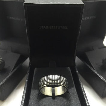 Unique Men's Stainless Steel Ring