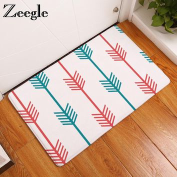 Zeegle Creative ArrowHead Printed Corridor Mats Absorbent Bedroom Entrance Doormats Kitchen Anti-Slip Rug Bathroom Floor Carpet