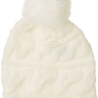 The North Face Women's Triple Cable Pom TNF White Beanie One Size