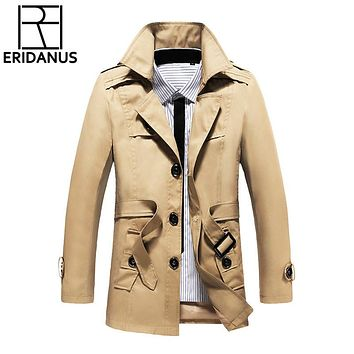 Jacket Men New Thick Coats Casual Spring Outwear Military Jackets Wool Overcoat Man Cotton Mens Parka