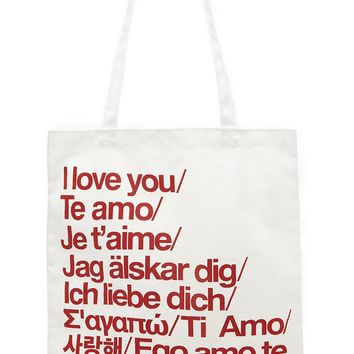 Love Graphic Shopper Tote