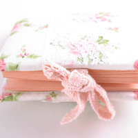 Beautiful handmade notebook with floral soft cover unusual cute gift ideas