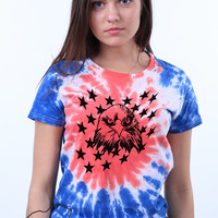 American Bald Eagle Patriotic America Merica 4th of July USA Tie Dye T-shirt