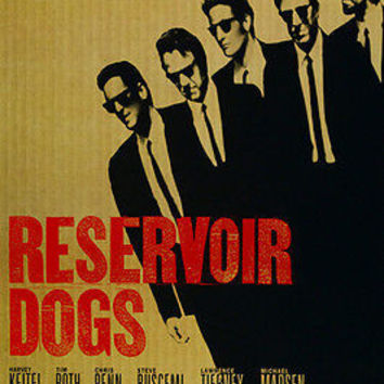 Quentin Tarantino's RESERVOIR DOGS movie poster HARVEY KEITEL TIM ROTH 24X36