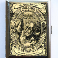 Memento Mori dying man Cigarette Case Wallet Business by che655