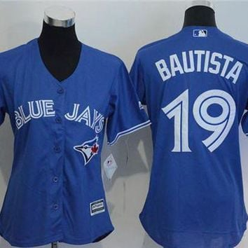 Women's Toronto Blue Jays #19 Jose Bautista Cool Base Player Jersey