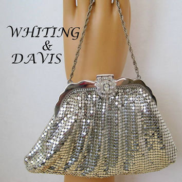 whiting and davis mesh purse vintage