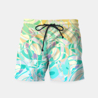 Summer Beach Days Abstract - Yellows And Blues Swim Shorts, Live Heroes