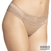 Warner's No Pinching. No Problems. Lace-Trim Thong 5062