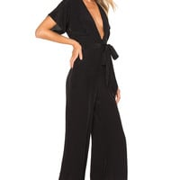 FAITHFULL THE BRAND Cedric Jumpsuit in Plain Black | REVOLVE