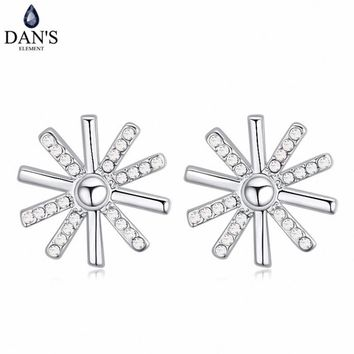 DAN'S 5 Colors Real Austrian crystals Stud earrings for women    Earrings s New Sale Hot  Round 120702