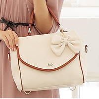 Fashion dimensional bow handbag