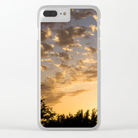 Cloudy Sunset Clear iPhone Case by audrey_ross