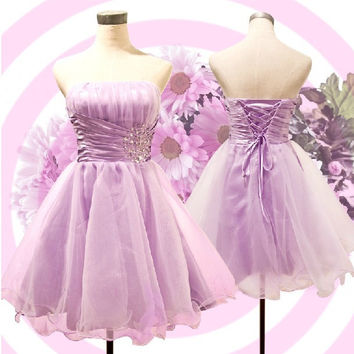 lilac fancy blue women dress princess ball gowns bridesmaid adult little girl dresses in pink under 50 free shipping B966