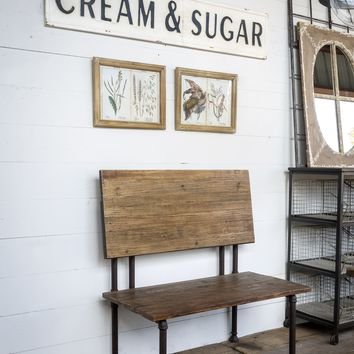 Embossed Cream and Sugar Vintage Tin Sign - 61-in