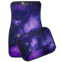 Amethyst Flower In The Stars Car Mats