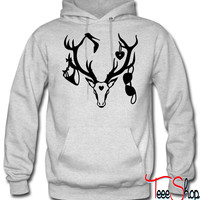 18 deer bachelor party fun funny love stag nigh hoodie