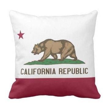 California State Flag American MoJo Pillow