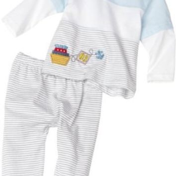 Amazon.com: Absorba Baby-Boys Newborn 2-Piece Nautical Footed Pant Set: Clothing