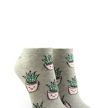 Happy Plant Graphic Ankle Socks