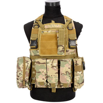 Tactical Vest CS Airsoft Hunting Special Combat Holster Pouch   CP camouflage