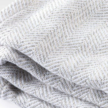 Herringbone Twist Cotton Blanket by Brahms Mount
