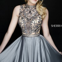Beaded Open Back Dress by Sherri Hill