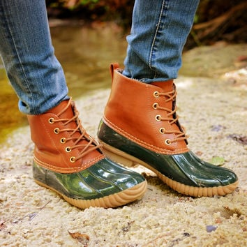Tonkka Duck Boot Forrest Green
