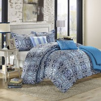 Lynwood 6-pc. Luxury Reversible Comforter & Quilt Set (Blue)