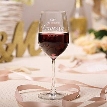 AW BRIDAL Crystal Wine Glasses Stemmed Red Wine Glass Hand Blown in Lead Free Set of 2 14 OZ410 ML