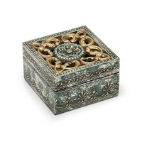 Antiqued Metal and Wood Cut Out Box - Matr Boomie