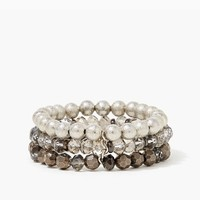 Triple Bead Stretch Bracelet | Fashion Jewelry - Rock Chic | charming charlie
