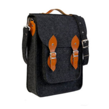 """NEW lower price - 30%!!! Vertical laptop bag 15inch with pocket,felt satchel,Macbook Pro 15"""",Custom size Laptop bag,sleeve,case,with leather"""