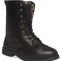 Ditsy Floral Combat Boots - Wide Width | Wet Seal