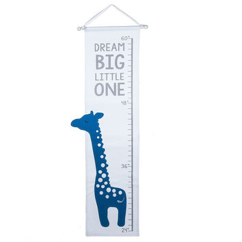 Giraffe Applique Cotton Fabric Growth Chart