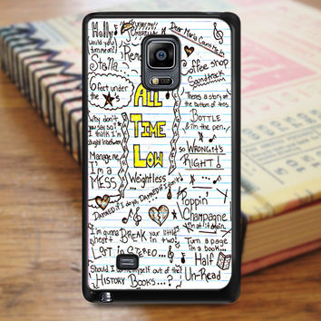 All Time Low Art Music Qoutes Lyric Samsung Galaxy Note Edge Case