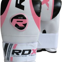 Authentic RDX Gel Girls MMA Boxing Gloves Pink White