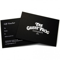 Gift Voucher - The Great Frog London