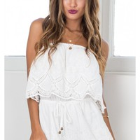 Days Like These playsuit in white lace