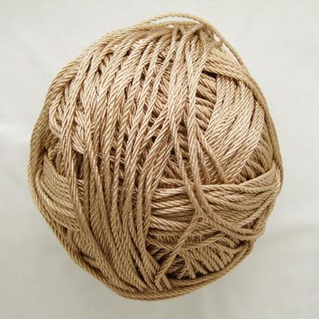 Free shipping 10mtrs/Lot Vintage Champagne 3mm Nylon Braide Persian Cord Macrame&Craft Yarn