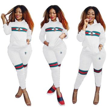 Bee two piece set tracksuit for women elegant top and pants set