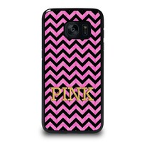 VICTORIA'S SECRET PINK CHEVRON Samsung Galaxy S7 Edge Case Cover