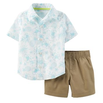 Carter's Hawaiian Shirt & Shorts Set - Baby
